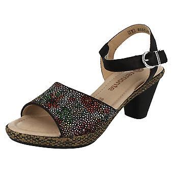 Ladies Remonte Heeled Summer Sandals D1051