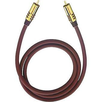 RCA Audio/phono Cable [1x RCA plug (phono) - 1x RCA plug (phono)] 3 m Bordeaux gold plated connectors Oehlbach NF Sub