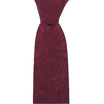 David Van Hagen Wedding Rose Silk Tie - Wine