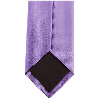 Bassin and Brown Plain Silk Tie - Lilac/Pink