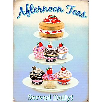 Afternoon Tea Small Steel Sign 200Mm X 150Mm