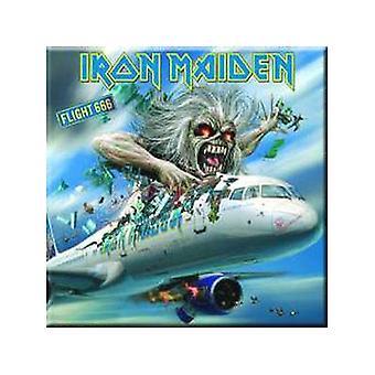 Iron Maiden Flight 666 Steel Fridge Magnet (Ro Sq)