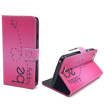 Telefono cellulare custodia per mobile WIKO Lenny essere felice rosa