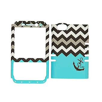Rocker Series Snap-On Protector Case for BlackBerry Q5 (Black Anchor/Black and W