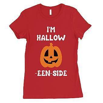 Hollow Inside Pumpkin Womens Red T-Shirt