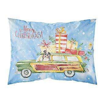 Merry Christmas Australian Shepherd Fabric Standard Pillowcase