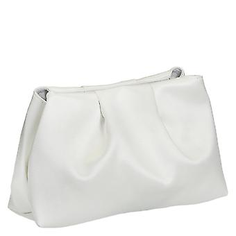 White satin wedding clutch bag