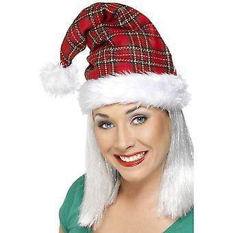Smiffy's Tartan Santa Hat