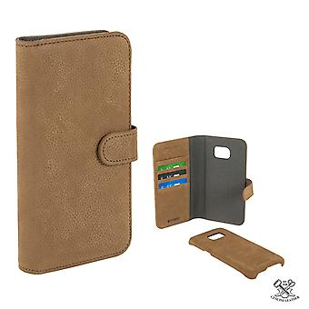 Champion Wallet Real Leather Case Galaxy S7 EDGE Coffe Brown