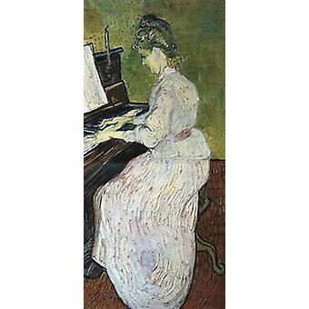 Marguerite Gachet at the Piano, Vincent Van Gogh, 80x40cm