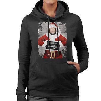 Christmas Mugshot Liam Gallagher Women's Hooded Sweatshirt