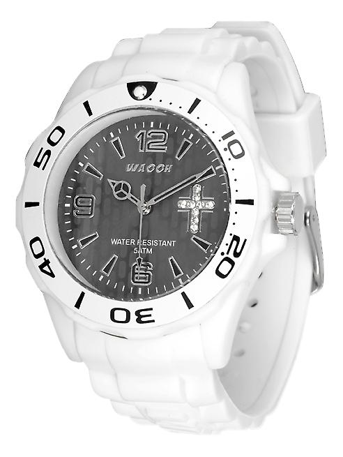 Waooh - Watch CC 44 - Cross rhinestone