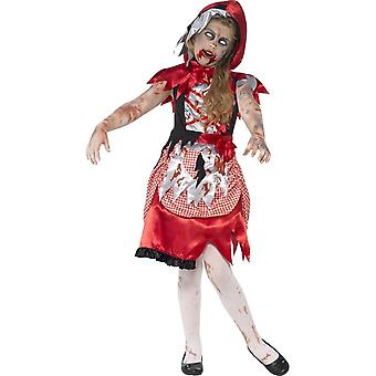 Zombie Miss Hood Costume, Large Age 10-12