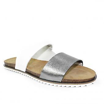 Lunar Prague Flat Leather Sandal CLEARANCE