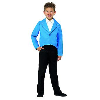 Childrens Blue Tailcoat Fancy Dress Costume