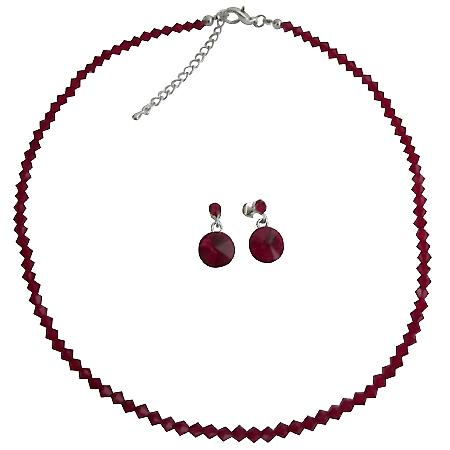 Passionate Gorgeous Gift Siam Red Jewelry Set Holiday Gifts