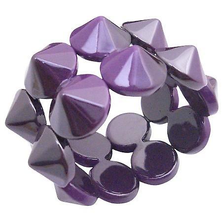 Fabulous Bracelet Exquisite Purple Color Stretchable Bracelet