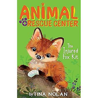 Den skada räven Kit (Animal Rescue Center)