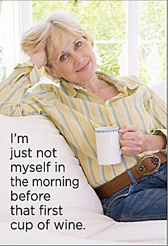 I'm Just Not Myself In The Morning Before... funny fridge magnet (ep)