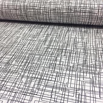 Effet 3D Maze matrice lignes Wallpaper luxe métallique moderne cercles Rasch blanc/argent/noir