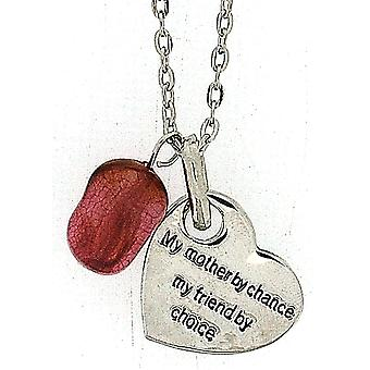TOC 'My Mother By Chance My Friend By Choice' Heart Pendant Necklace 18