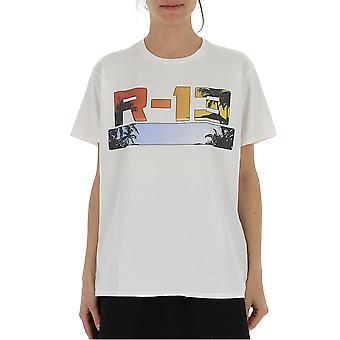 R13 White Cotton T-shirt