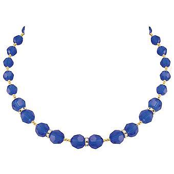 Colección eterna Serenata oro de cristal austriaco azul majestuoso collar de tono