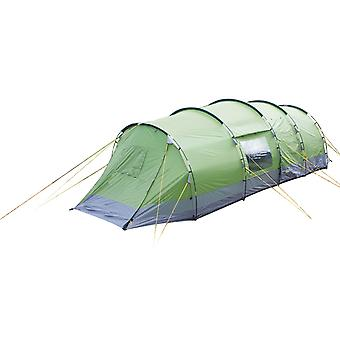 Yellowstone Lunar 6 Man Camping Tent With 2 Side Doors Green