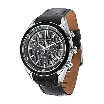Jorg Gray Mens JG6900-23 Chronograph Watch Grey Dial Leather Strap