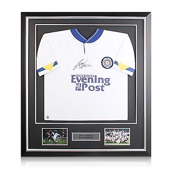 Gordon Strachan Signed Leeds United 1992 Shirt In Deluxe Black Frame With Silver Inlay