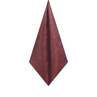 Dobell Mens Burgundy Pocket Square Tupter Paisley Pattern Hochzeits-Zubehör