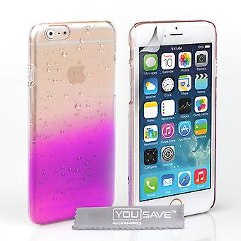 YouSave Accessories iPhone 6 and 6s Raindrop Hard Case PurpleClear