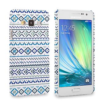 Caseflex Samsung Galaxy A3 Fairisle Case – Blue with White Background