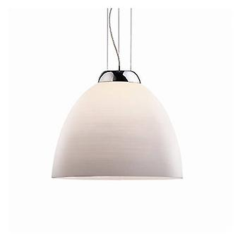1 Light Dome Ceiling Pendant White