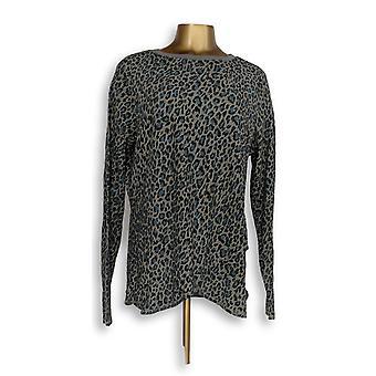Ninguém mulheres ' s sono camisa loungewear aconchegante malha waffle Print cinza A345787