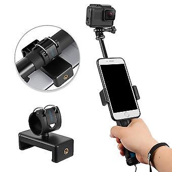 Aleación de aluminio de mano extensible monopod selfie stick para apple, teléfonos inteligentes Android y cámara gopro