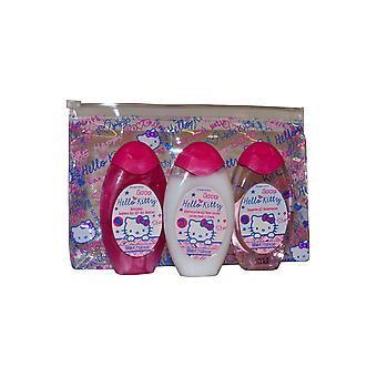 Hello Kitty Mini Travel Set Shower Gel, Shampoo and Body Lotion 50ml
