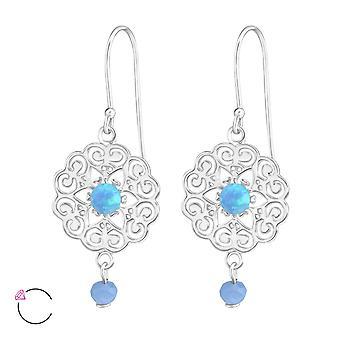 Flower crystal from Swarovski® - 925 Sterling Silver Earrings - W36810X