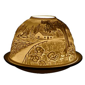 Light Glow Dome Tealight Holder, Countryside