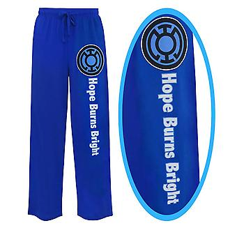 Blue Lantern Hope Burns Bright Unisex Pajama Pants