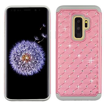 ASMYNA Pearl Pink/Gray FullStar Protector Cover  for Galaxy S9 Plus