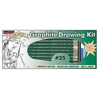 Kimberly Graphite Drawing Kit 12 Pieces 25Gp
