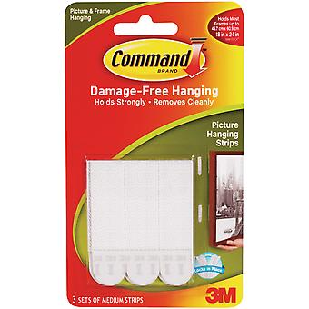 Command Medium Picture Hanging Strips White 4 Sets Pkg 17201 4