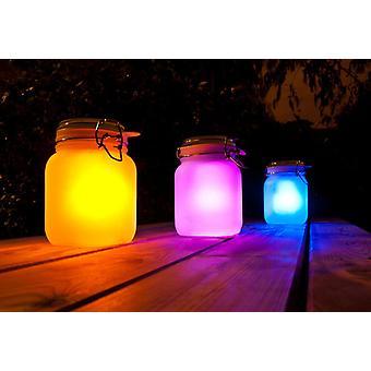 LED Solar glas burk mång-färga Lantern ljus dekorationer julklappar