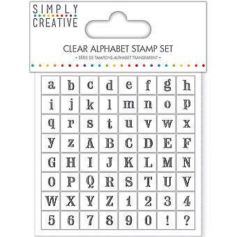 Simply Creative Clear Stamps-Serif Alphabet SCSTP003