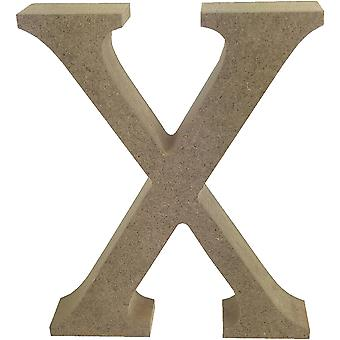 Smooth MDF Blank Shape-Serif Letter X TCMDF034