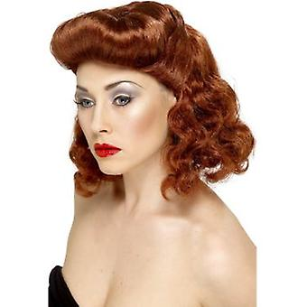 Smiffys Pin Up Girl Wig Auburn With Loose Curls (Kostüme)