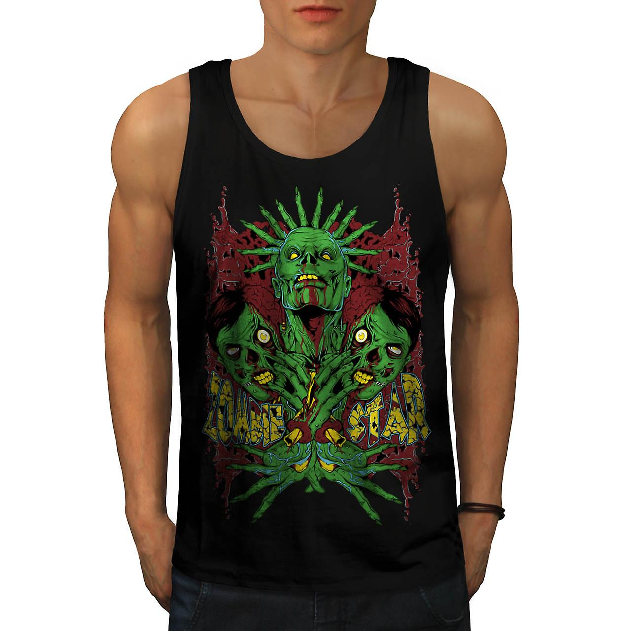 Monster Zombie Star Nightmare Men Black Tank Top | Wellcoda