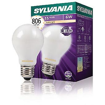 Sylvania Led Filament Lamp A60 6W 806Lm E27 Satin