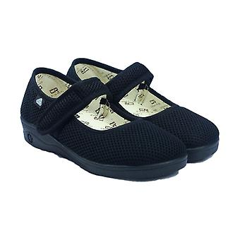 Mirak 204 Womens Celia Ruiz Canvas Dolly Shoes Textile Rubber Ladies Footwear